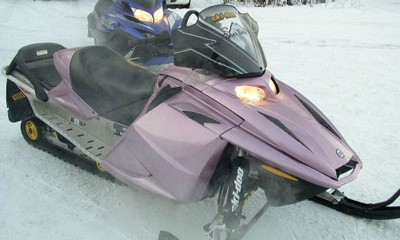 Snowmachine body repair and paint in Eagle River, Alaska